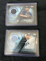 Tampa Bay Rays Lot Of 2 2014 Topps Trajectory Relics David Price & Alex Cobb
