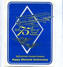 Decal 75th ANNIVERSARY NAVAL AVIATION 1911 1986 US Navy Squadron Patch Image
