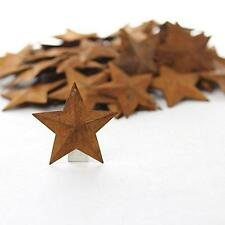 Metal Rusted Stars Western Rustic Decor Set 100 Decorating Home Ornament New