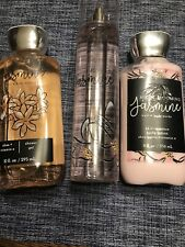 Bath Body Works NIGHT BLOOMING JASMINE Fragrance Mist, Body Lotion & Shower Gel