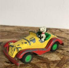 Retro Snoopy Peanuts Tin Toy Rare Collectible Classic Car Mini Rare F/S From Jpn