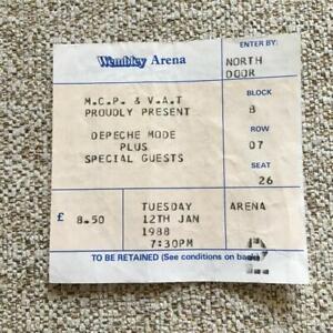 Depeche Mode ticket Wembley Arena 12/01/88 -  #26