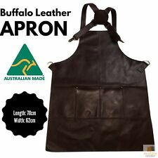 BUFFALO LEATHER APRON Cooking Chef Hairdresser Waterproof Durable Quality 5200