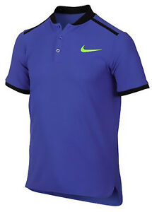Nike Boys New Paramount Blue Court Advantage Tennis Polo