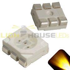 50 x LED PLCC6 5050 Yellow Gold SMD LEDs Light Super Ultra Bright Car PLCC-6