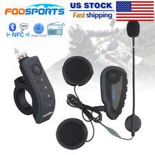 Motorcycle Helmet BT Interphone Remote control Bluetooth Intercom Headset NFC FM