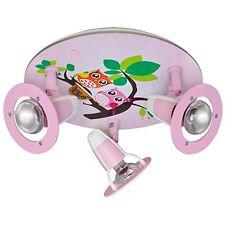 Deckenleuchte Deckenlampe Kinderzimmer Eulen rosa 3x E14/max.40W * ELOBRA