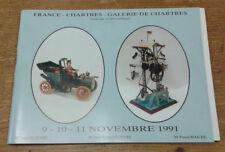 Catalogue de vente, Chartres, 9-10-11 novembre 1991 (Jouets anciens, train)