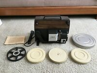 Argus Projector Holiday Dual 848 Movie Super 8+ Reg 8mm Vintage w/Built-in Case