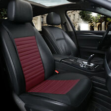 Deluxe Leather Car Seat Cover Universal Front Back Cover Waterproof Breathable