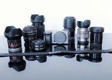 Sony a6000 Mirrorless Digital Came Graphite EUC Under 2000 clicks w/ 6 lenses!!