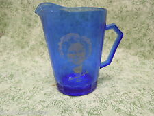 cp-199  Depression glass: SHIRLEY TEMPLE pitcher (1) 8 oz,