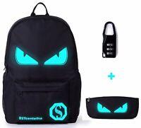 Glowing Backpack Laptop Bag School College Shoulder Bags Rucksack Travel Pack