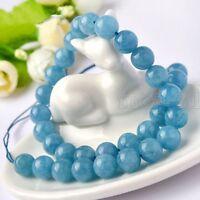 12mm Natural Smooth Brazilian Aquamarine Gemstone Round Loose Beads 15'' AAA