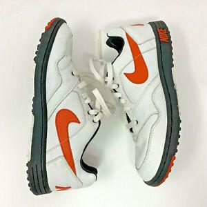Vintage Nike Field General Turf Shoes 309161 181 White Orange Black Men's Size 9