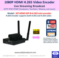 Camera-top WiFi HDMI H.265 encoder for Facebook YouTube live streaming RTMP more