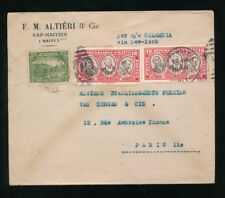 HAITI 1936 PRINTED ENVELOPE to FRANCE via NY SHIP COLOMBIA...ALTIERI + CO