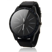 Fashion Men's Sports Digital Army Military Quartz Wrist Watch Rubber Band Black
