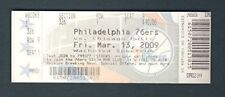 Philadelphia 76ers FULL UNUSED Ticket 3-13-09 LAST EVER game at The SPECTRUM 954