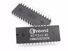25pcs W27C512-45 EPROM W27C512 Winbond DIP-28 IC