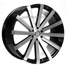 "Set4 22"" Velocity Wheels VW12 Black Machined Rims"