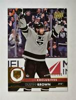 2017-18 17-18 Upper Deck UD Series 1 Exclusives #89 Dustin Brown /100