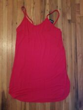 Nastygal Red Dress Coverup NWT size 8