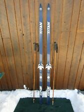 """Ready to Use Cross Country 73"""" Long TITAN 190 cm Skis +  Poles"""