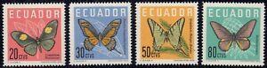 1961 Ecuador SC# 680-683 - Butterflies - M-H