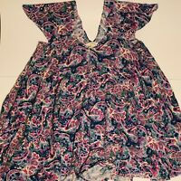 Matilda Jane Womens Size Small In The Maze Floral Tunic Top EUC Free Shipping