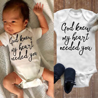 US Infant Newborn Baby Boy Girls Clothes Romper Shirt Bodysuit Jumpsuit Outfits