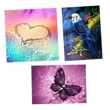 3Pcs 5D Diamond Painting DIY Beach Butterfly Eagle Embroidery Cross Stitch