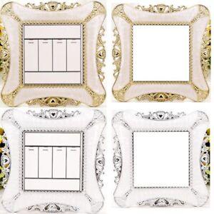 Resin Single Light Switch Socket Finger Plate Panel Cover DIY Home Room Decor UK