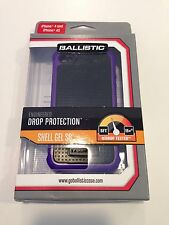 For Apple iPhone 4s Case Rubber and Hard Shell Combo in Purple & Black