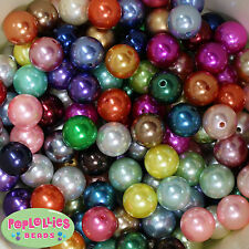 20mm Mixed Color Acrylic Faux Pearl Bubblegum Beads Lot 148 pc Chunky Gumball