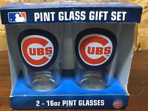 Chicago Cubs - 2-16oz - Pint Glasses - NIP - Boelter Brands