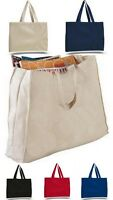 COTTON HEAVY WEIGHT SHOULDER TOTE SECONDS BAGS CANVAS STRAP (LARGE.GUSSET TOTE)