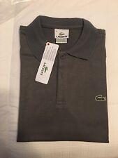 Lacoste Men's Classic Polo Shirt Gray Brand NWT Eu 8 Us XL