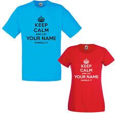 Restez calme et laissez votre nom de la gérer choix adultes T-SHIRT enfant personnalisé