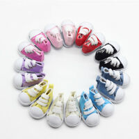 5cm Doll Accessories Sneakers Shoes for dolls,Fashion Mini Canvas Shoes   GV