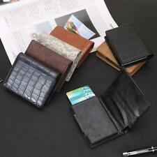 Men RFID Wallet Blocking Automatic Credit Card Holder ID Card Holder Wallet new
