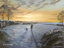 Pete Rumney Art Painting Lost In Morning Light Handpainted Canvas Artwork Signed