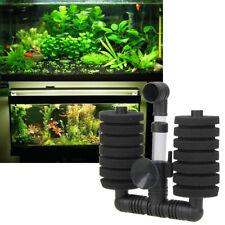 Biochemical Sponge Foam Filter Double Head Equipment Aquarium for Fish Tank Kit