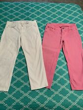Lilly Pulitzer Capri Lot, Size 10, White Pair & Pink Pair