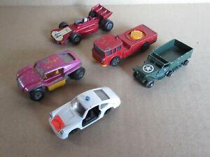 964M Bundle 5 Vehicles Matchbox Corgi Juniors Efsi Porsche Buggy F1 Trucks