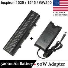 FOR DELL Inspiron 1440 1525 1526 1545 1750 X284G GW240 Battery/Charger K450N GOO