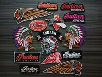 Chief Head Native American Indian Motorcycles Patch Embroidered Iron or Sew on