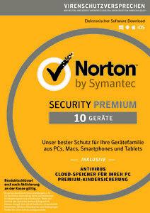NORTON Security Premium 2021 - 10 Geräte 1/2/3 Jahre (ESD) Internet Security DE