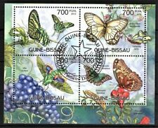 GUINE-BISSAU 2012 BUTTERFLIES BORBOLETAS INSECTS FAUNA FLORA STAMPS MNH CTO