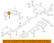 BMW OEM 14-16 428i Exhaust System-Catalytic Converter & Pipe Gasket 18307581970